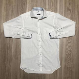 ORIHICA - オリヒカ ワイシャツ 白 ストライプ 袖柄
