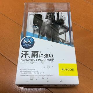 エレコム(ELECOM)のBluetoothワイヤレスイヤホン LBT-HPC11WPBK 未使用品(ヘッドフォン/イヤフォン)
