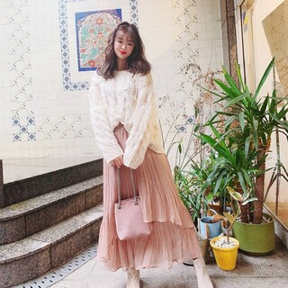 フラワー(flower)のflower  wavy pleats skirt2 ~ウェービープリーツス(ロングスカート)