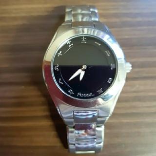 ジャンク品 FOSSIL 腕時計 大刻シリーズ