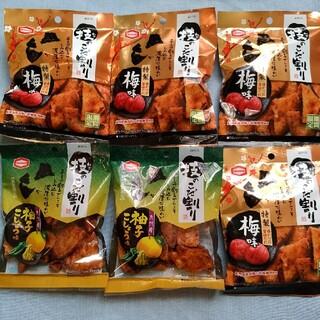 カメダセイカ(亀田製菓)の亀田の技のこだ割り期間限定梅味と柚子こしょう味6袋セット商品(菓子/デザート)