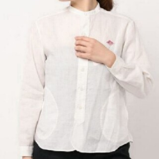 ダントン(DANTON)のDantonリネンスタンドカラーシャツ(シャツ/ブラウス(長袖/七分))