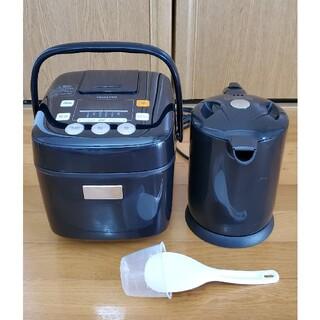 ヤマゼン(山善)の山善 YJB-300  マイコン炊飯器 & 電気ケトル 家電製品 『送料込み』(炊飯器)