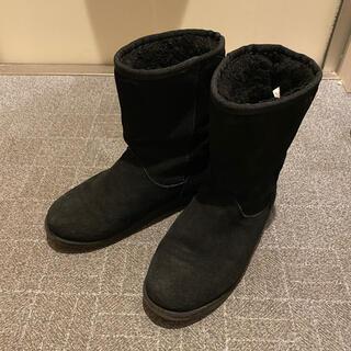 エミュー(EMU)のemu ショートブーツ ムートン ブラック(ブーツ)