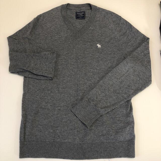 Abercrombie&Fitch(アバクロンビーアンドフィッチ)のAbecrombie & fitch 薄手長袖ニット メンズのトップス(Tシャツ/カットソー(半袖/袖なし))の商品写真