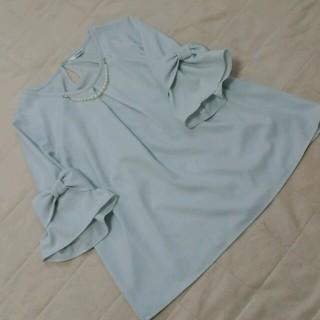 シマムラ(しまむら)のリボン袖トップス(シャツ/ブラウス(半袖/袖なし))