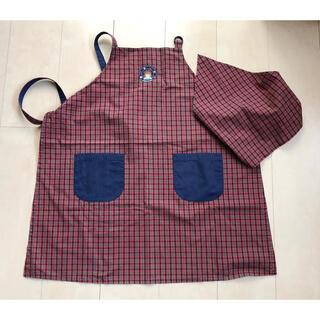 familiar - ☆安値![ファミリア ]エプロン 三角巾つき サイズL☆