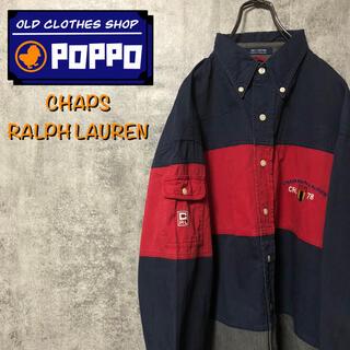 Ralph Lauren - チャップスラルフローレン☆刺繍ロゴサイドポケットマルチ太ボーダーシャツ