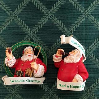 コカコーラ(コカ・コーラ)のクリスマス コカコーラ サンタクロース オーナメント 2個(その他)