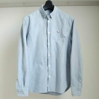 メゾンキツネ(MAISON KITSUNE')のMAISON KITSUNE 16SS ワンポイント刺繍 ボタンダウンシャツ(シャツ)