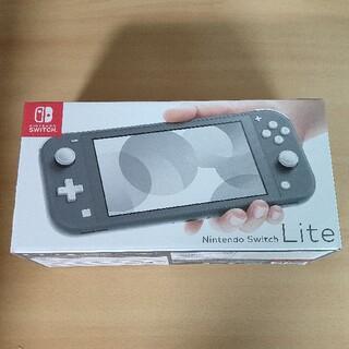 ニンテンドースイッチ(Nintendo Switch)の新品 Nintendo Switch Lite グレー(携帯用ゲーム機本体)