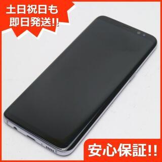 ギャラクシー(Galaxy)の美品 SC-02J Galaxy S8 グレイ 白ロム(スマートフォン本体)