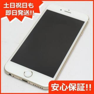 アイフォーン(iPhone)の美品 DoCoMo iPhone6S 128GB ゴールド 白ロム(スマートフォン本体)