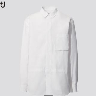 Jil Sander - UNIQLO +J スーピマコットン オーバーサイズシャツ メンズ M ホワイト