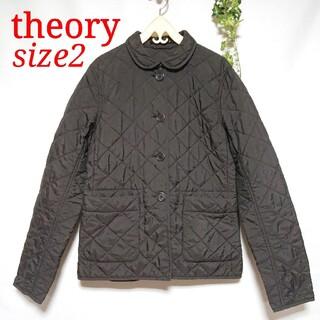 セオリー(theory)のセオリーtheory  中綿キルティングジャケット  ブラウン  サイズ2(テーラードジャケット)