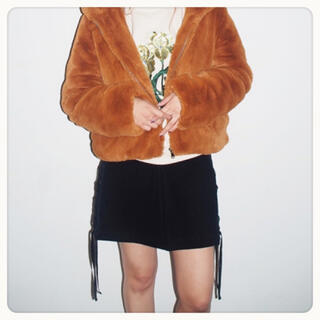 ムルーア(MURUA)の【送料無料】MURUA サイドコード台形スカート(ミニスカート)
