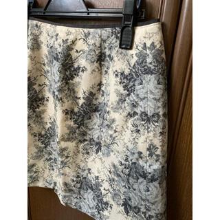 エフデ(ef-de)の美品★ エフデ 冬スカート 花柄 ウール 日本製(ひざ丈スカート)