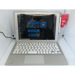 トウシバ(東芝)の薄い東芝DYNAPAD CPU4コアー SSD64GB MEM4GB WIN10(タブレット)