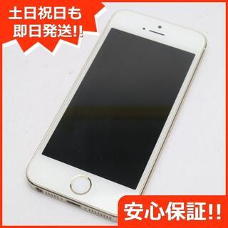 アイフォーン(iPhone)の美品 DoCoMo iPhone5s 16GB ゴールド 白ロム(スマートフォン本体)