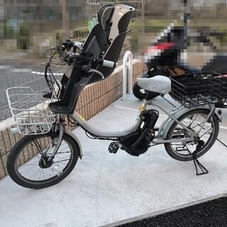 ブリヂストン(BRIDGESTONE)のbikke 2e ブルー グレー 子供乗せ(自転車本体)