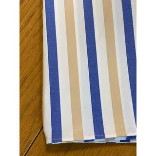 ドゥロワー(Drawer)の★htokyoハンカチ専門店ブルーベージュストライプ新品(ハンカチ)