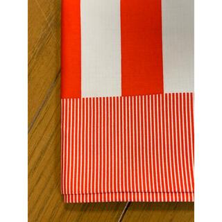 ドゥロワー(Drawer)の★htokyoハンカチ専門店赤白バイボーダーJapan新品(ハンカチ)