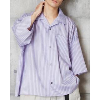HARE - 開衿ストライプシャツ ベーシックオープンカラーシャツ 最終値下げ