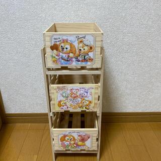 ダッフィー(ダッフィー)のダッフィー 木製 3段チェスト(棚/ラック/タンス)
