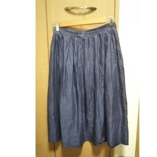 ジルサンダー(Jil Sander)のJIL SANDER  リネンスカート(ひざ丈スカート)