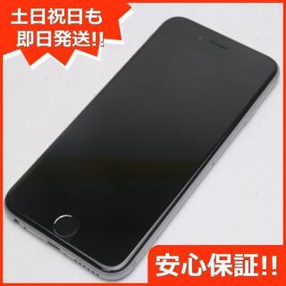 アイフォーン(iPhone)の美品 SIMフリー iPhone6S 32GB スペースグレイ (スマートフォン本体)