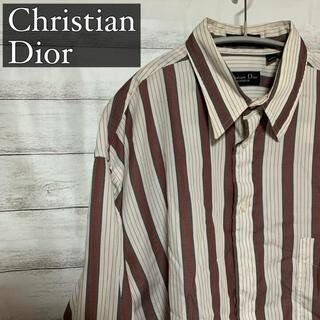 Christian Dior - Christian Dior 長袖 ストライプシャツ メンズ USA 古着
