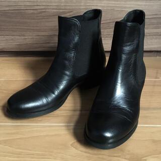 FABIO RUSCONI - ファビオルスコーニ サイドゴアショートブーツ 22.5cm(35サイズ)