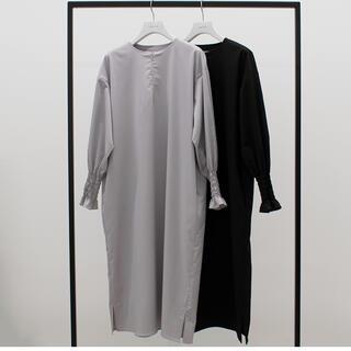 DEUXIEME CLASSE - yonfa zip dress (light gray) ジップドレス Sサイズ