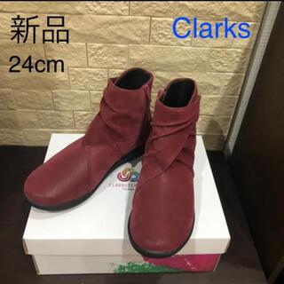 Clarks - 新品 クラークス Clarks アンクルブーツ ブーティ 24cm