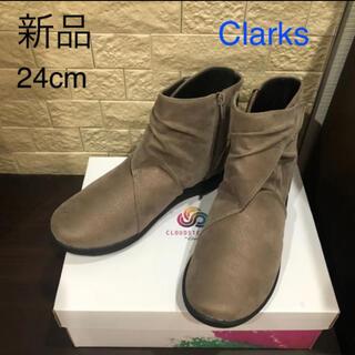 クラークス(Clarks)の新品 クラークス Clarks アンクルブーツ ブーティ 24cm(ブーツ)
