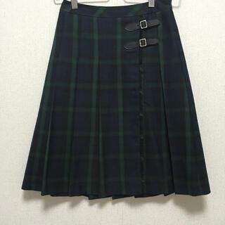 インディヴィ(INDIVI)のINDIVI 巻きスカート風 プリーツスカート(ひざ丈スカート)