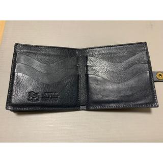 イルビゾンテ(IL BISONTE)のイルビゾンテ 二つ折り財布 ネイビー(折り財布)