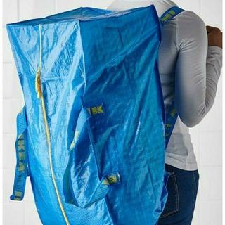 IKEA - 最安値トロリー1枚IKEAイケアFRAKTAフラクタブルーバッグ76L大容量収納