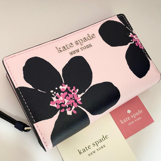 kate spade new york - wkru6133 ケイトスペード キャメロン フラワー 二つ折り財布
