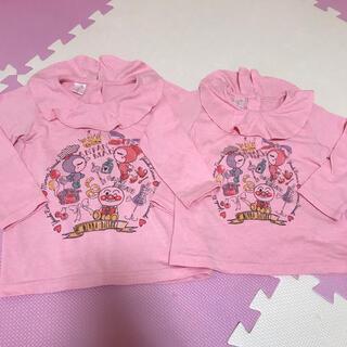 アンパンマン - アンパンマン ガール お揃い 襟付き トップス セット95 110 ピンク 姉妹