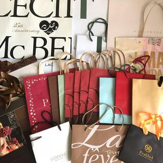 セシルマクビー(CECIL McBEE)の120枚 ショップ袋 まとめ売り ショッパー 大量 ポイント消化 紙袋 フリマ(ショップ袋)