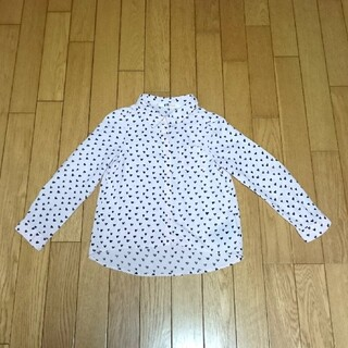 エイチアンドエム(H&M)のH&M キッズ 長袖 シャツ 100 ピンク ハート柄 ブラウス トップス(ブラウス)