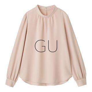 GU - 美品【GU】スタンドカラーブラウス ピンク
