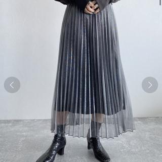 ジーナシス(JEANASIS)のジーナシス シアーシャイニープリーツスカート(ロングスカート)