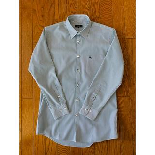 バーバリーブラックレーベル(BURBERRY BLACK LABEL)のダークグリーンストライプ バーバリー  ブラックレーベル ワイシャツ (シャツ)