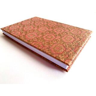 金襴織物御朱印帳 梅 #3<色柄>梅の花 ブロンズ ピンク 金 ファブリック 布(その他)
