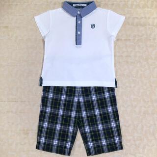 familiar - familiar    ポロシャツ  &  ハーフパンツ  size  90cm