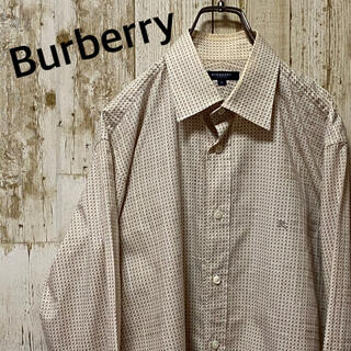 BURBERRY - バーバリー ロンドン 長袖シャツ 総柄 刺繍ロゴ