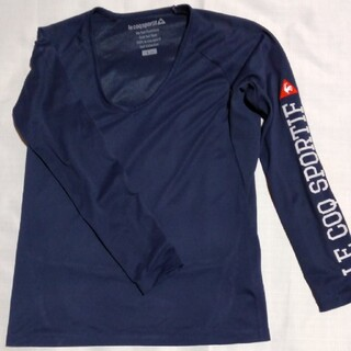 ルコックスポルティフ(le coq sportif)のルコック スポルティフ 紺長袖スポーツウェア レディース(ウェア)