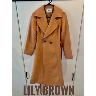 リリーブラウン(Lily Brown)の【美品】LILY BROWN ロングコート ブラウン レディース(ロングコート)